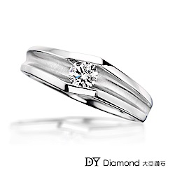 DY Diamond 大亞鑽石 18K金  0.40克拉 D/VS1 時尚男戒