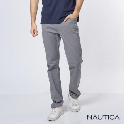Nautica經典彈性直筒褲-灰色