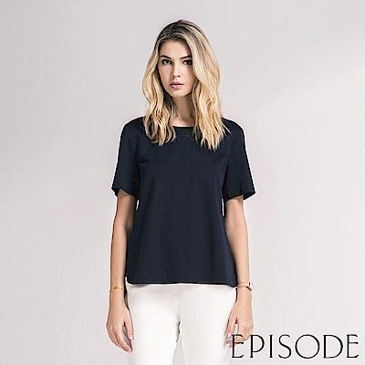 EPISODE - 簡約高質感素面造型上衣(深藍)