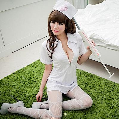 中大尺碼2XL護士服 角色扮演cosplay護士裝短袖洋裝表演服 流行E線