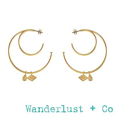 Wanderlust+Co 艾莉亞圓圈耳環 - 金色