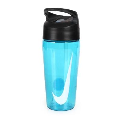 NIKE 16OZ 吸管水壺 透明藍白