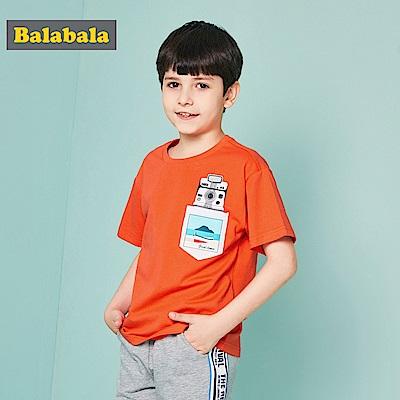 Balabala巴拉巴拉-造型口袋印花短袖T恤-男(3色)