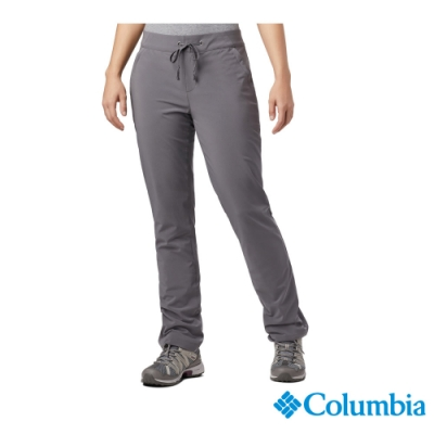 Columbia 哥倫比亞 女款-防曬50防潑長褲-灰色 UAK12840GY