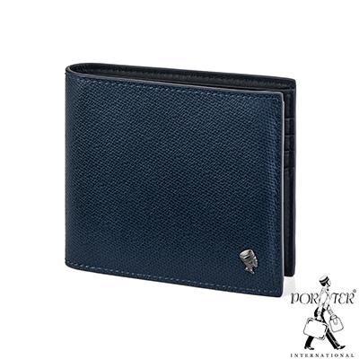PORTER - 個性主宰LOGIC多夾層橫式皮夾 - 深藍