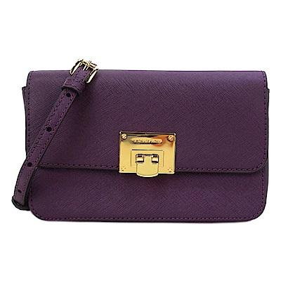MICHAEL KORS  TINA金釦防刮二合一斜背包/長夾兩用包(紫)