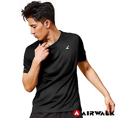 【AIRWALK】男款吸排短T-黑色