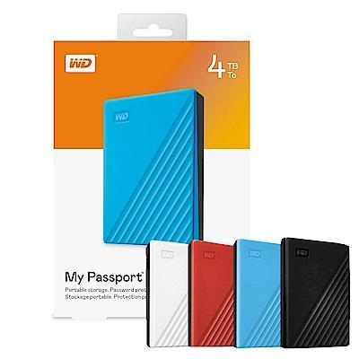 [時時樂限定]WD My Passport 4TB 2.5吋行動硬碟 多色可選