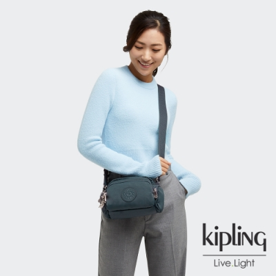 Kipling 知性優雅藍好收納隨身斜背包-JENERA MINI