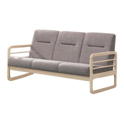 文創集 莫琳現代風棉麻布實木三人座沙發椅-160x77x82.5cm免組