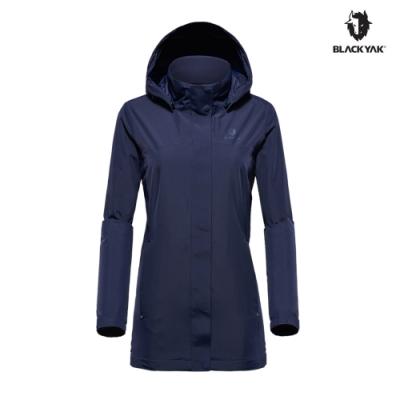 【BLACK YAK】女 AMANDA 防水風衣外套 [海軍藍]