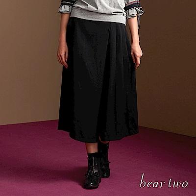 beartwo 優雅時尚膝下不對稱褲裙(二色)