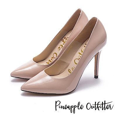 Pineapple Outfitter 性感尤物 素面尖頭高跟鞋-鏡粉