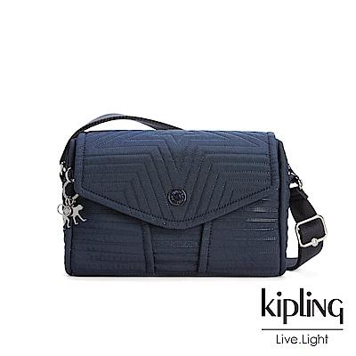 KiplingOL幹練藍掀蓋肩背包(小)