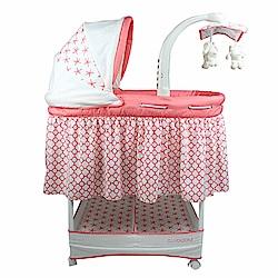 酷貝比 CUI BABY 多功能嬰兒搖床/嬰兒床 (嫩粉) 下單送蚊帳