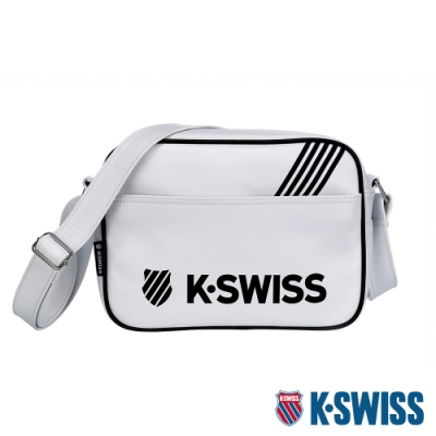 K-SWISS  KS Pu Shoulder Bag休閒斜背包-白