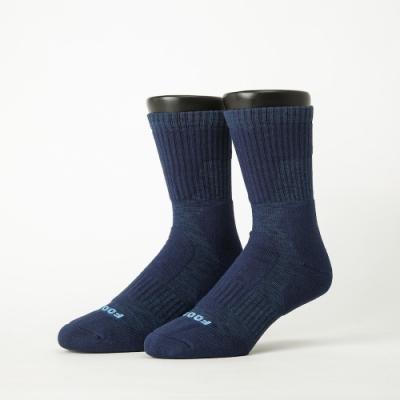 Footer除臭襪-減壓氣墊運動登山襪-六雙入(藍色*2+黑色*2+灰色*2)