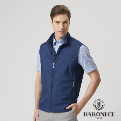 BARONECE 百諾禮士休閒商務 男裝  立領輕量薄背心--藍色(1188301-38)
