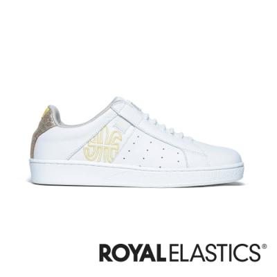 ROYAL ELASTICS Icon Genesis 黃白真皮運動休閒鞋 (女) 91901-300