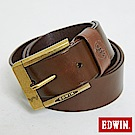 EDWIN 橢圓網點頭皮帶-咖啡