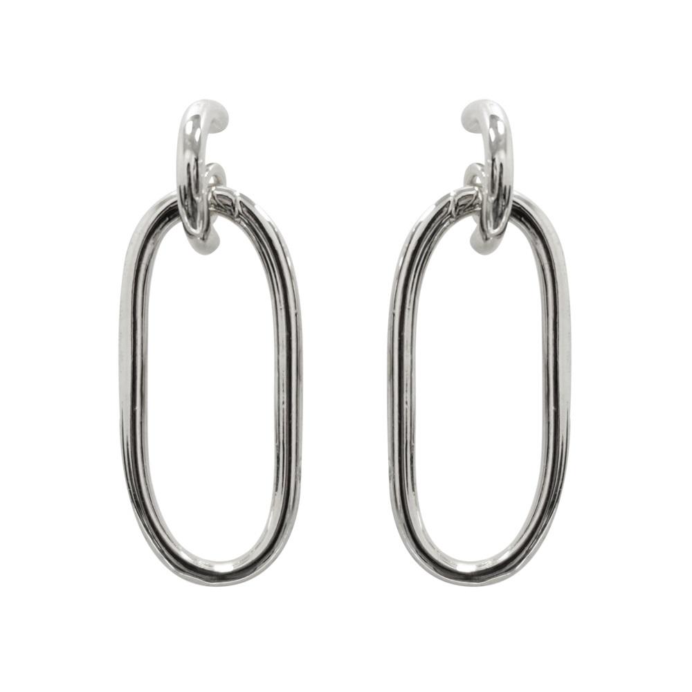 Prisme 美國時尚飾品 簡單生活 銀色耳環