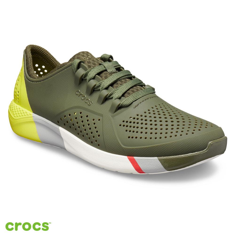 Crocs卡駱馳 (男鞋) LiteRide拼接撞色步行鞋 205788-37P