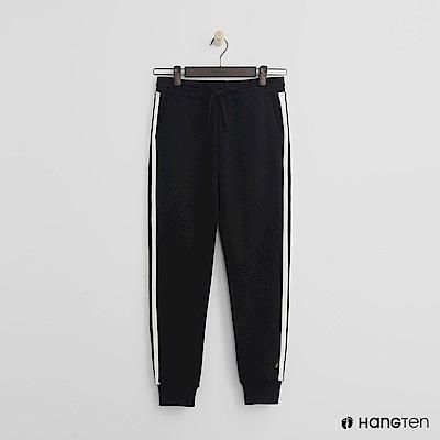 Hang Ten - 女裝 -側邊撞色鬆緊束口褲 - 黑