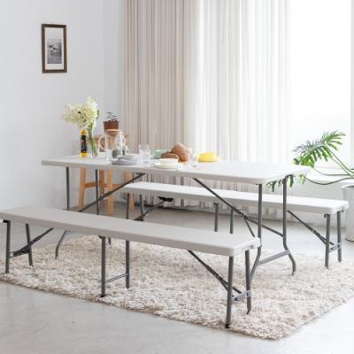 Amos-180*76手提折疊式戶外露營餐桌/會議桌