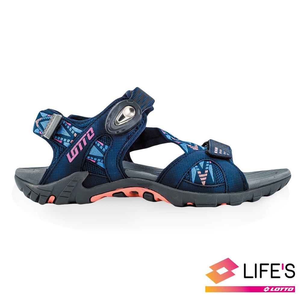 LOTTO 義大利 女 排水磁扣涼鞋 (丈青)