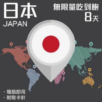 【PEKO】加送卡套 日本上網卡 8日高速4G上網 無限量吃到飽 優良品質高評價
