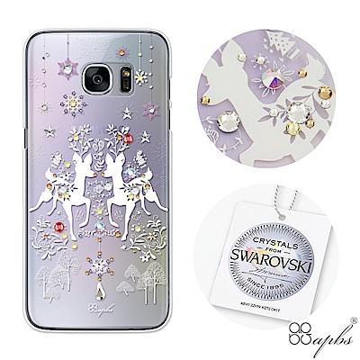 apbs Samsung Galaxy S7edge 施華洛世奇彩鑽手機殼-斑比透紫