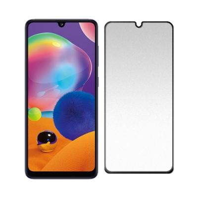 【SHOWHAN】SAMSUNG Galaxy A31(6.4吋) 2.5D電競霧面滿版滿膠鋼化玻璃保護貼-黑色