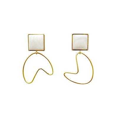 Prisme 美國時尚飾品 回心轉意 金色耳環