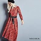 MOMA 豹紋花卉綁帶長洋裝