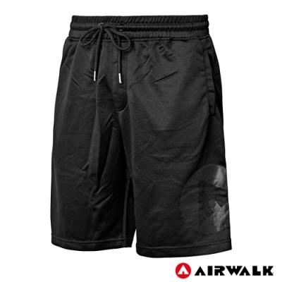 【AIRWALK】男款休閒五分褲-黑色