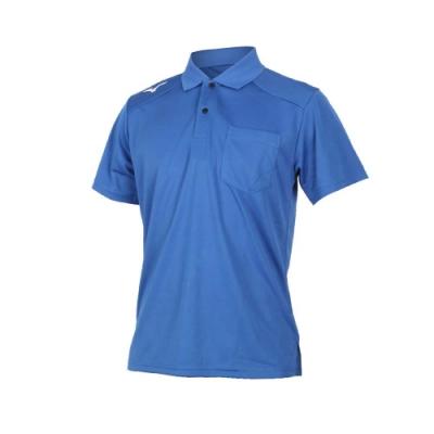 MIZUNO 男 短袖POLO衫 藍白