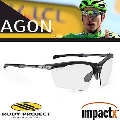 Rudy Project Agon 專業防爆變色運動眼鏡_磨砂黑框+透明變色片