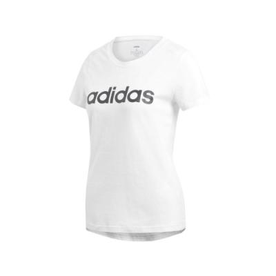 adidas T恤 W E LIN Slim T 運動 休閒 女款