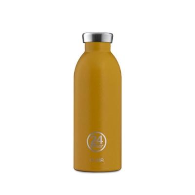 義大利 24Bottles 不鏽鋼雙層 保溫瓶 500ml - 銀杏黃