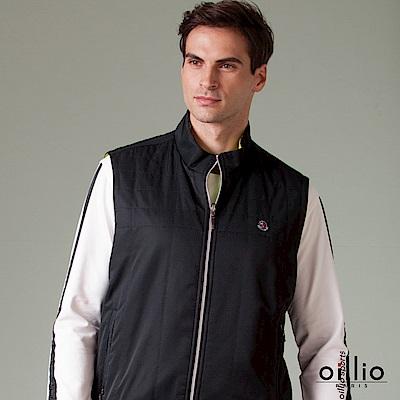 歐洲貴族 oillio 休閒背心 素面搭配 雙面穿背心款 黑色