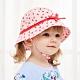 Kori Deer 可莉鹿 粉色草莓純棉女嬰兒童綁帶遮陽帽 漁夫帽寶寶帽防曬 product thumbnail 1