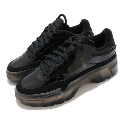 Reebok 休閒鞋 Club C Cardi 運動 女鞋 休閒時尚 穿搭 漆皮 簡約 靴款 黑 H01009