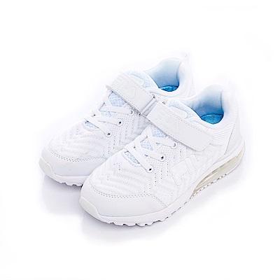 FILA KIDS大童氣墊MD慢跑鞋-白 3-J409S-111