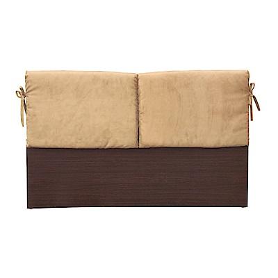 綠活居 蘇亞比5尺亞麻布雙人胡桃床頭片(二色)-154.5x8.5x92cm免組