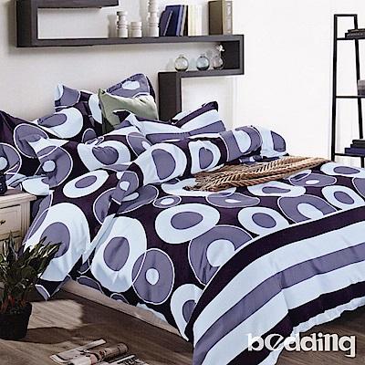 BEDDING-活性印染雙人鋪棉床包兩用被套四件組-動感地帶
