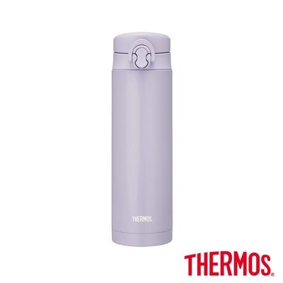 THERMOS膳魔師不鏽鋼彈蓋真空保溫瓶500ml(JNF-502-LPL)丁香嫩紫