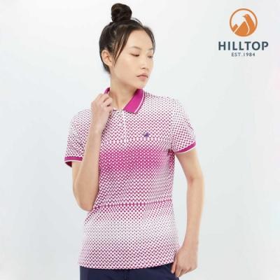 【hilltop山頂鳥】女款吸濕快乾抗UV抗菌彈性POLO衫PS14XFG4ECJZ野翠紫