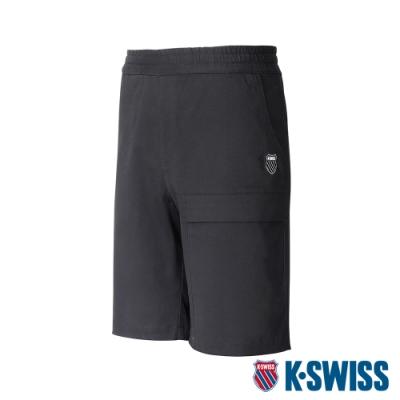 K-SWISS Woven Pocket Shorts棉質休閒短褲-男-黑