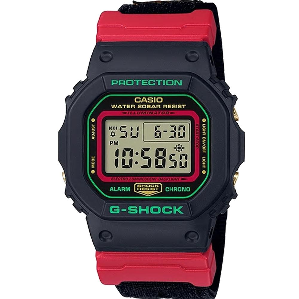G-SHOCK  DW-5600 經典方塊運動錶(DW-5600THC-1)