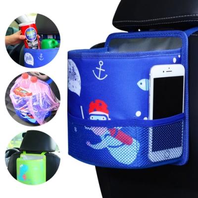 JoyNa汽車用品椅背收納袋 升級款置物袋卡通雜物袋保溫袋垃圾桶